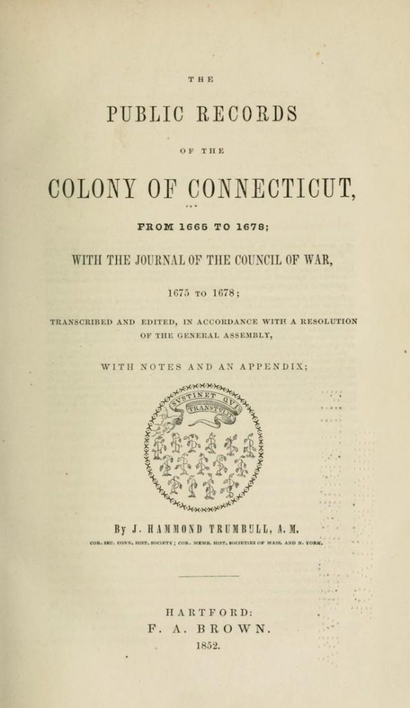 vol 2 - Public Records of the Colony of Connecticut
