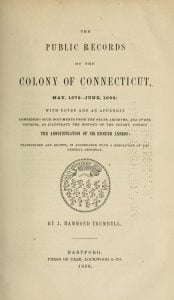Public Records of the Colony of Connecticut vol 3